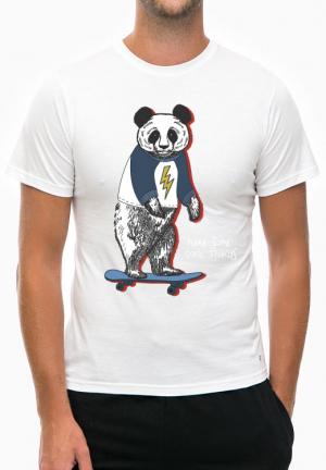 футболка panda skating