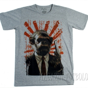 прикольная футболка обезьяна с пушкой