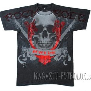 рокерская футболка rock-n-roll never die
