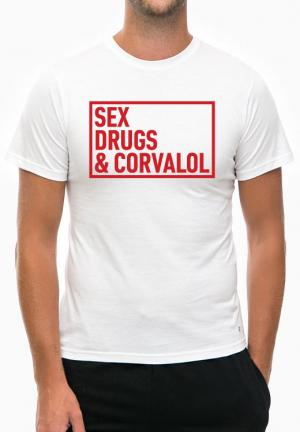 футболка sex drugs corvalol