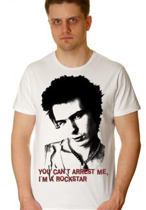 футболка sid vicious you cant arrest me - на заказ