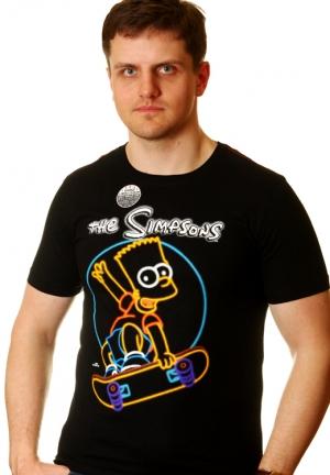 симпсон барт - футболка для скейтеров