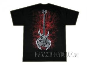 skeleton guitar - футболка символика рок групп