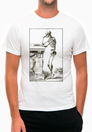 футболка thinking skeleton