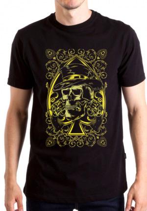 футболка skull 2 revolvers