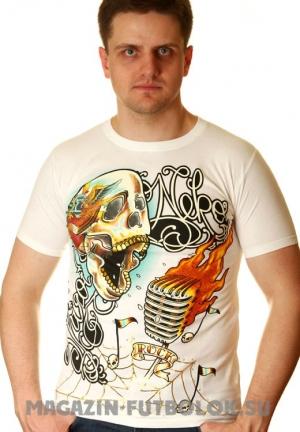 футболки для парней череп и микрофон