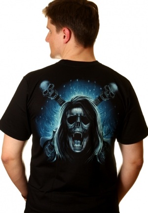 блэк метал футболки skull guitar