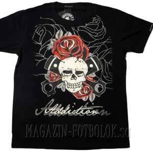 skull roses pistons тематическая футболка тату