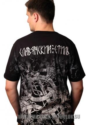 славянская футболка богатырь с топором