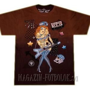 стильная футболка girl and guitar