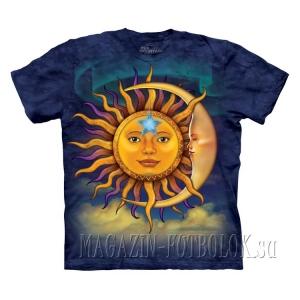 красивая футболка mountain sun moon