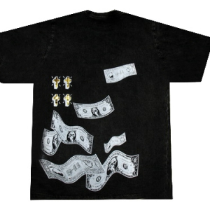 супер футболка с долларами