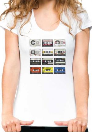 футболка tape audio cassete girl