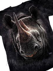 3д футболка носорог black rhino