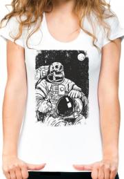 Футболка Astronavt Skeleton Moon Ladys