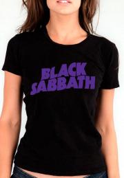 женская футболка black sabbath violet