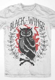 Футболка Сова - Black wings