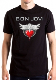 Футболкa Bon Jovi Wings and Heart