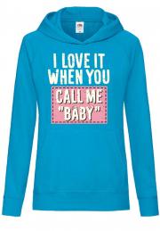 Худи Call me baby hoodie Girls cyan