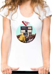 футболка collage polaroid white girls