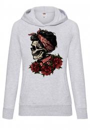 Худи Girl Skull bandana rose