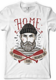 Футболка Home is where the beard is