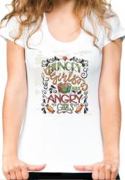 Женская футболка Hungry Girls Angry