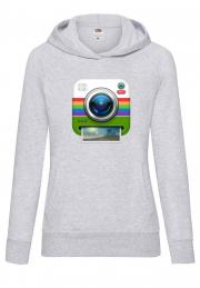 Худи Instagram Camera Hoodie Girls Grey