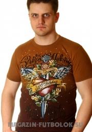 футболка с надписью kill me slowly