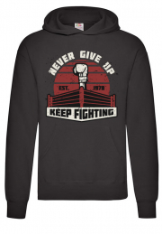 Худи Keep Fighting never give up black