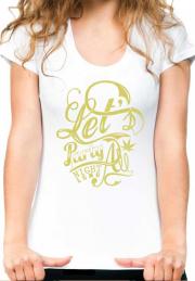 женская футболка lets party night long