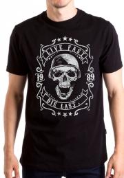 Футболка Skull Live Fast Die Last