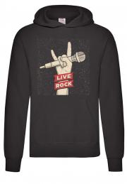 Худи Live Rock black