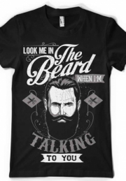Футболка Look me in the beard