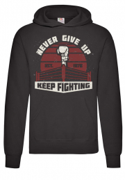 Худи Never give up boxing black