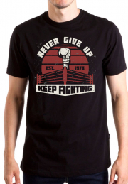 Футболка Never give up boxing