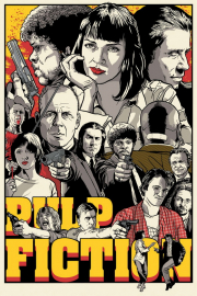 Постер Pulp Fiction Poster