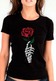 Футболка Rose Skeleton Hand