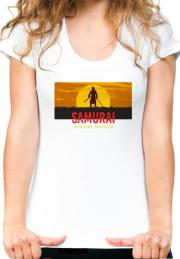 женская футболка samurai japanese warrior girl