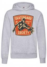 худи skateboard society hoodie man blue