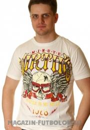 футболка skull in bikers glasses