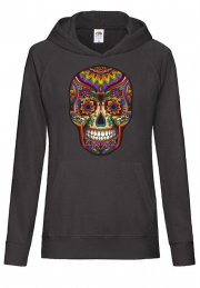 Худи Skull Color Hoodie Girls Black