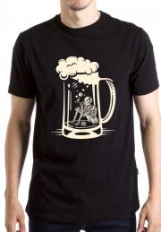 Футболка Smoking Skeleton Beer Glass