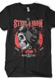 футболка сталь и железо - steel and iron