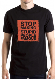 Футболка Stop Making Stupid People Famous Red