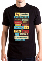 Футболка Stop Reading Text On My Tshirt