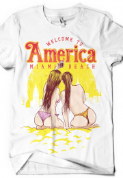 Футболка Welcome To America Mock Up