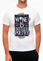 Футболка Wine is Bottled Poetry