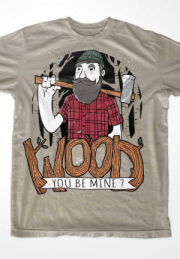 футболка wood you be mine