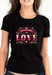 Футболка All you need love lettering girls black